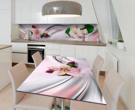 Акция на Виниловая 3D наклейка на стол Zatarga Цветок яблони 650х1200 мм (Z185234/1st) от Rozetka