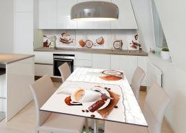 Акция на Виниловая 3D наклейка на стол Zatarga Кокосовый кофе 600х1200 мм (Z182563st) от Rozetka