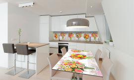 Акция на Виниловая 3D наклейка на стол Zatarga Цветочное ассорти 600х1200 мм (Z181123st) от Rozetka