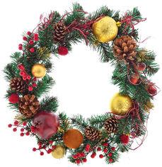 Акция на Венок Новогодько (YES! Fun) d-35 см Рождественский с украшением Щедрость Плетенный (4820079035873) от Rozetka