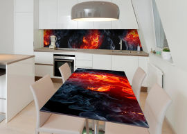 Акция на Виниловая 3D наклейка на стол Zatarga Феникс 650х1200 мм (Z182639/1st) от Rozetka