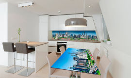 Акция на Виниловая 3D наклейка на стол Zatarga Утро в мегаполисе 650х1200 мм (Z180950/1st) от Rozetka