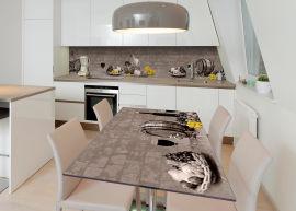Акция на Виниловая 3D наклейка на стол Zatarga Корзина изобилия 600х1200 мм (Z182800st) от Rozetka
