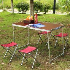 Акция на Стол складной туристический для пикника 4 стула от Allo UA