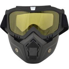 Акция на Маска защитная для сноубордистов и лыжников Vjtech желтая от Allo UA