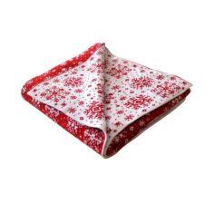 Акция на Новогодний плед бело-красная снежинка Прованс 100*150 от Allo UA