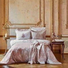 Акция на Комплект постельного белья с покрывалом + плед Karaca Home - Adrila rosegold золотисто-розовый евро (10) (svt-2000022273213) от Allo UA