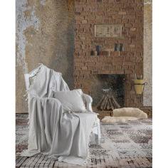 Акция на Плед-накидка Eponj Home Buldan Keten - Etnik 170*220 gri серый от Allo UA