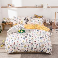 Акция на Комплект постельного белья Wildflowers (полуторный) Berni Home Белый (55718) от Allo UA