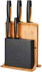 Акция на FISKARS Набор ножей FF с бамбуковой подставкой, 5 шт (1057552) от Repka