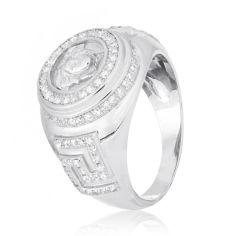 Акция на Кольцо из серебра с куб. циркониями, размер 18 (572159) от Allo UA