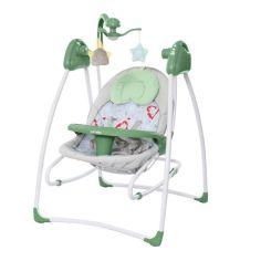 Акция на Кресло-качалка CARRELLO Grazia CRL-7502 Jade Green со съемным столиком + мягкий вкладыш и мобиль с игрушками от Allo UA