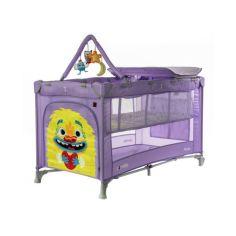 Акция на Манеж CARRELLO Molto CRL-11604 Orchid Purple с пеленальным столиком и матрасом + дуга и 4 игрушки + сумка-переноска от Allo UA
