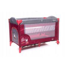 Акция на Манеж-кроватка 4baby Vegas двухуровневый с матрасом, колесами и боковым входом + сумка для переноски Красный от Allo UA