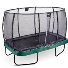 Акция на Батут Exit Toys Elegant Premium 244 х 427 см прямоугольный с защитной сеткой Зеленый от Allo UA