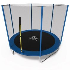 Акция на Батут Olimpic Sports FitToSky 312 см с защитной сеткой Синий / Черный от Allo UA