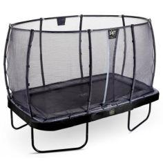Акция на Батут Exit Toys Elegant Premium 244 х 427 см прямоугольный с защитной сеткой Черный от Allo UA