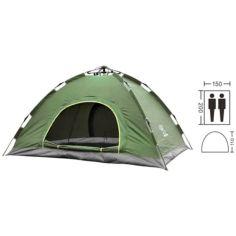 Акция на Палатка автомат с автоматическим каркасом туристическая палатка однослойная непромокаемая 2-х местная 2х1,5 метра UKC зеленый от Allo UA
