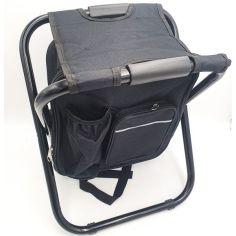 Акция на Стул раскладной с рюкзаком туристический для пикника и рыбалки 41х36х29см UKC черный от Allo UA