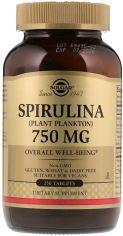 Акция на Solgar Spirulina 750 mg 250 tabs от Y.UA