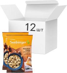 Акция на Упаковка калифорнийских фисташек Seeberger поджаренных и подсоленных 150 г х 12 шт (4008258041758) от Rozetka