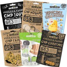 Акция на Комбо набор сушеного сыра snEco Medium 30 г х 6 шт (4823095000023) от Rozetka
