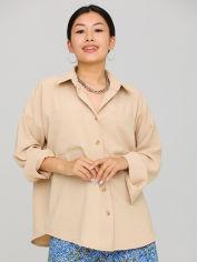 Акция на Рубашка Karree Розмари P1962M6193 XS Бежевая(karree100013365) от Rozetka