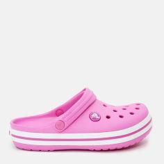 Акция на Кроксы Crocs Crocband Clog Kids 204537-6U9-C5 22 12.3 см Party Pink (0887350925432) от Rozetka