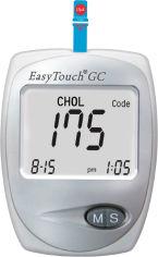 Акция на Глюкометр с функцией измерения холестерина в крови EasyTouch GC (ЕТ-202) от Rozetka