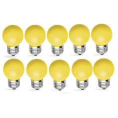 Акция на Лампа светодиодная набор Feron LB-37 1W E27 желтый 10 шт от Allo UA