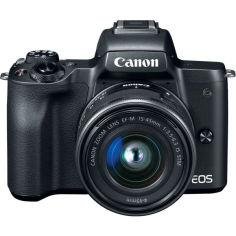 Акция на Фотоаппарат Canon EOS M50 Mark II kit (15-45mm) IS STM Black (4728C043) от Allo UA