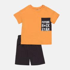 Акция на Костюм (футболка + шорты) Бемби KS650-5Y0 140 см Желтый/Черный (4823109637269) от Rozetka