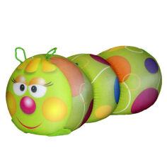 Акция на Антистрессовая подушка-валик Гусеница маленькая Цацки-Пецки  цвет фиолетовый-полоска от Podushka