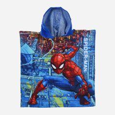 Акция на Полотенце-пончо Disney Spiderman SE1762 Синее (3609083448944) от Rozetka