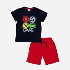 Акция на Костюм (футболка + шорты) Panolino PL17583 98 см Сине-красный (8691109885340) от Rozetka
