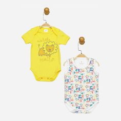 Акция на Боди-футболка Panolino PL17516 80-86 см 2 шт Бело-желтая (8691109878649) от Rozetka