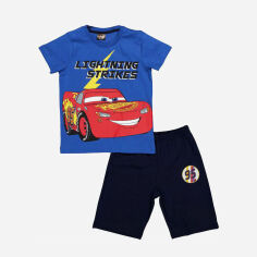 Акция на Костюм (футболка + шорты) Cimpa Cars 3 CR17590 104 см Черно-синий (8691109887665) от Rozetka