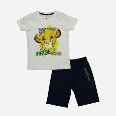 Акция на Костюм (футболка + шорты) Disney The Lion King AS17585 122 см Бело-черный (8691109887337) от Rozetka