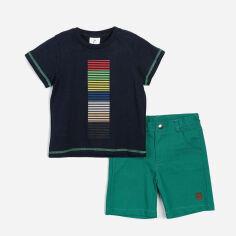 Акция на Костюм (футболка + шорты) Panolino PL15816 92 см Сине-изумудрый (8691109794048) от Rozetka