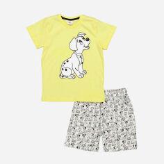 Акция на Костюм (футболка + шорты) Disney 101 Dalmatians DL17606 116 см Серо-желтый (8691109890474) от Rozetka