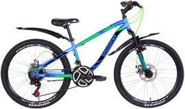 """Акция на Велосипед Discovery FLIPPER AM DD 24"""" 13"""" 2021 Сине-зеленый с черным (RET-DIS-24-049) от Rozetka"""