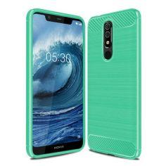 Акция на Чехол накладка Polished Carbon для Nokia 5.1 Green от Allo UA