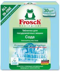 Таблетки для мытья посуды в посудомоечных машинах Frosch Сода 30 шт (4009175191908) от Rozetka