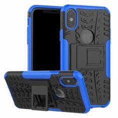 Акция на Бронированный чехол Armored Case для Apple iPhone XS Max Blue от Allo UA