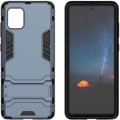 Акция на Чехол-накладка Ricco Iron Man для Samsung Galaxy Note 10 Lite / A81 Dark blue от Allo UA