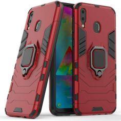 Акция на Чехол-накладка Ricco Black Panther Armor для Samsung Galaxy M20 (M205) Red от Allo UA