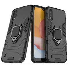 Акция на Чехол-накладка Ricco Black Panther Armor для Samsung Galaxy A01 Black от Allo UA
