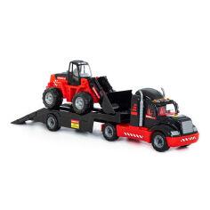 Акция на Автомобиль-трейлер с трактором-погрузчиком Mammoet 86 см 57006 ТМ: Mammoet от Antoshka