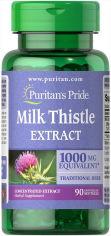 Акция на Puritan's Pride Milk Thistle 4:1 Extract 1000 mg 90 caps (Silymarin) Расторопша от Stylus