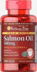 Акция на Puritan's Pride Omega-3 Salmon Oil 500 mg 100 caps от Stylus